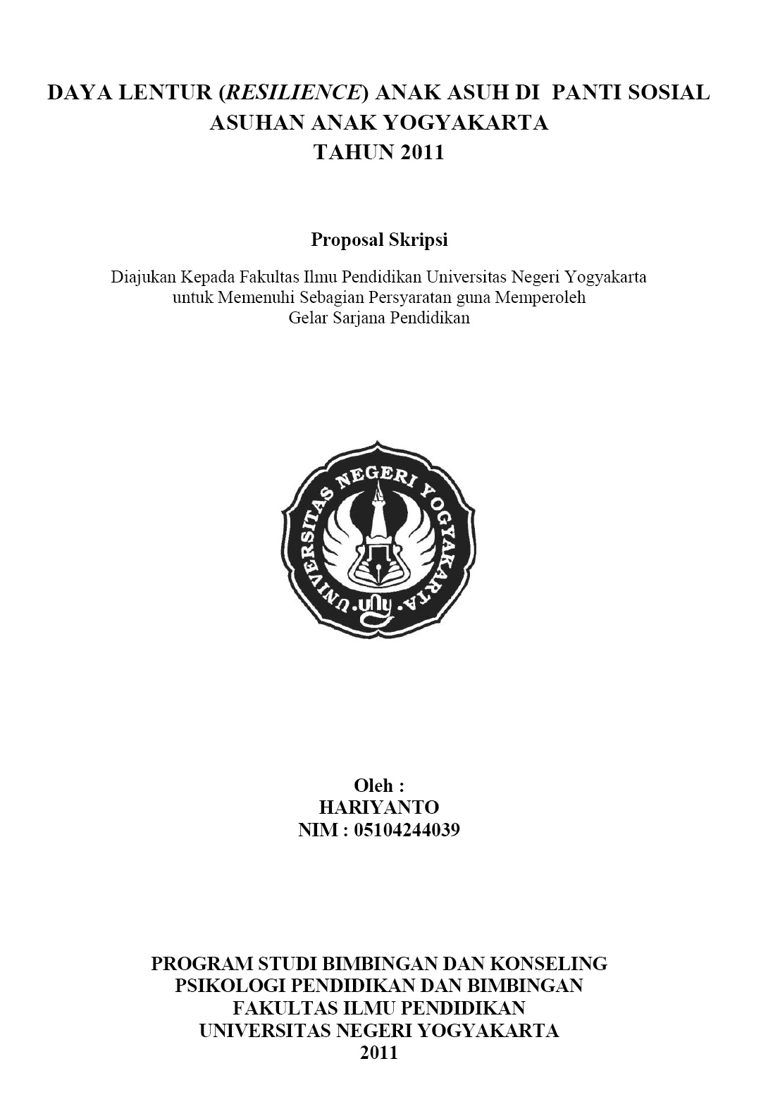 Contoh Proposal Skripsi Tesis Tugas akhir