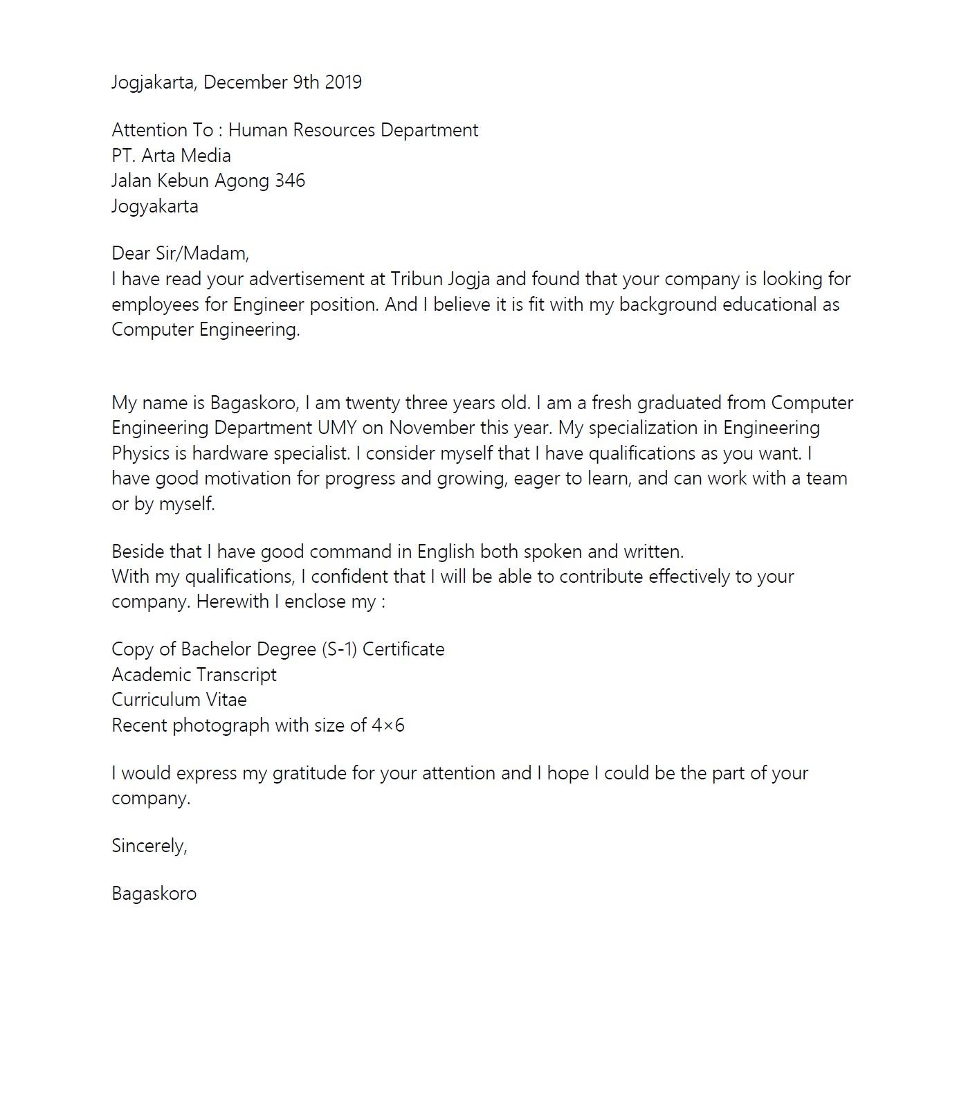 15 Contoh Surat Lamaran Kerja Bahasa Inggris Tulis Tangan Yang Baik Dan Benar Ruangguruku Com