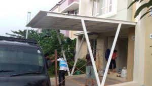 contoh model kanopi flat