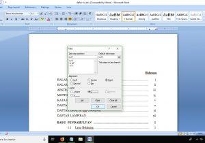 cara membuat daftar isi makalah skripsi proposal