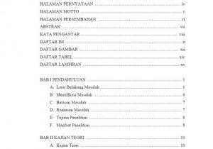 contoh daftar isi skripsi